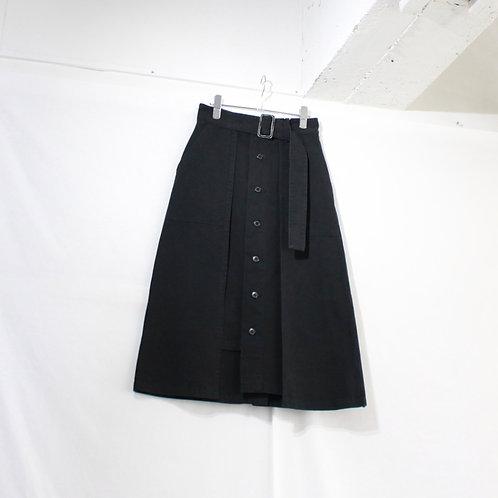 supp. asymmetry chino skirt black