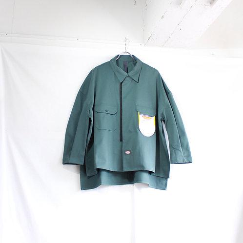 SHINYA KOZUKA work shirt-ish jacket with Dickies jade