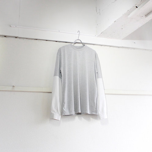 my beautiful landlet polyester shirt sleeve L/S tee gray size.0