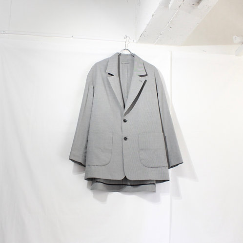 VOAAOV cottonpoly tailored jacket check