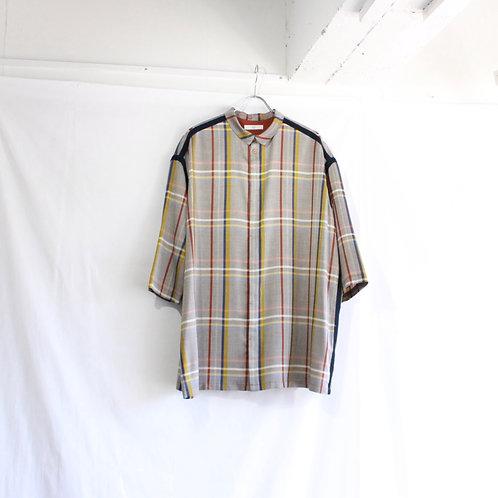 ohta check wide shirt M1