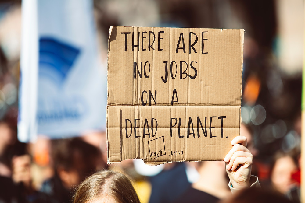 There are no jobs on a dead planet climate protest