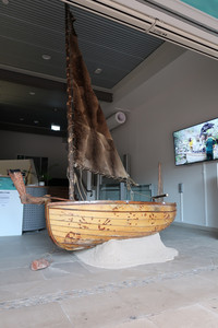 David mangenner Gough with Te Waka a trawlwoolway (the Canoe/Boat of trawlwoolway) Nathan Slater, ,