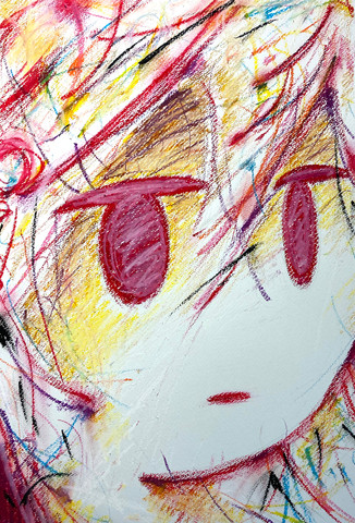 2021 Crayon on paper 381x542