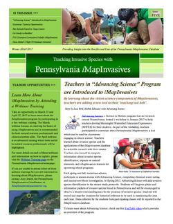 Pennsylvania iMapInvasives newsletter (Issue 5, Winter 2016/2017)