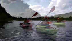 Paddling on Glade Run Lake