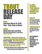 March 24, 2018 Mars Middle School Brook Trout Release