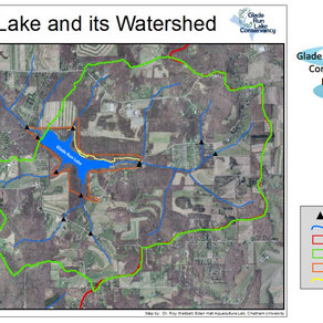 Map of Glade Run Lake and its Watershed