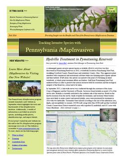 Pennsylvania iMapInvasives newsletter (Issue 4, Fall 2016)