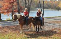 Horseback Riders at the Lake