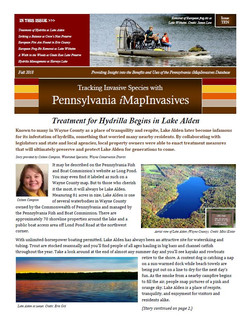 Pennsylvania iMapInvasives newsletter (Issue Ten, Fall 2018)