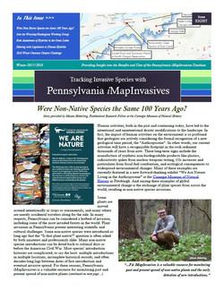 Pennsylvania iMapInvasives newsletter (Issue 8, Winter 2017/2018)