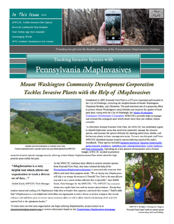 Pennsylvania iMapInvasives newsletter (Issue 2, Winter 2015/2016)