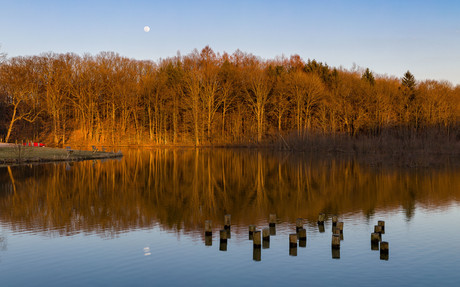 Moon Rise On The Lake