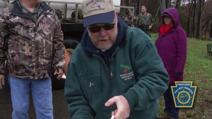 Rep. Jim Marshall Stocks Trout at Glade Run Lake