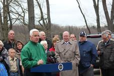 April 25, 2014 Governor Corbett Commits $2 million to Restore Glade Run Lake in Valencia, PA.