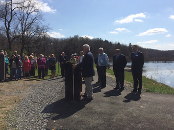 April 12, 2017 Glade Run Lake ribbon cutting ceremony.