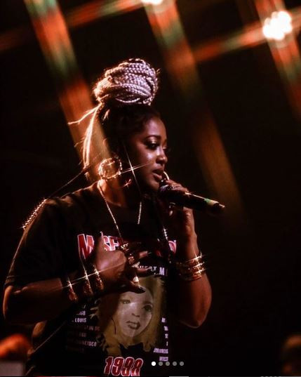 Hip-Hop artist Rapsody performing