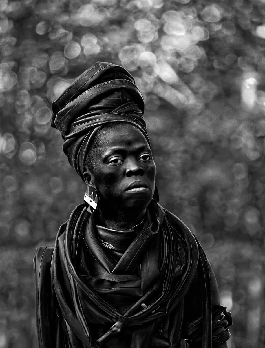 Zanele Muholi in Protective Headwrap