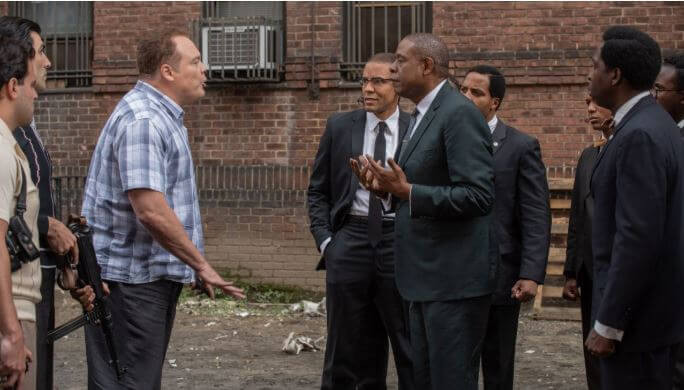 Forest Whitaker, Vincent D'Onofio and Nigel Thatch in 'Godfather of Harlem'