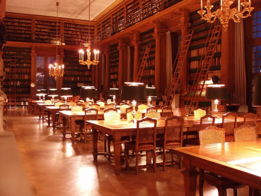 La salle de lecture de la bibliothèque Mazarine