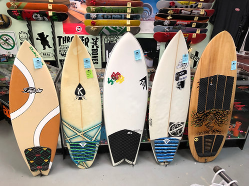 New & Used Surfboards in Stock Now