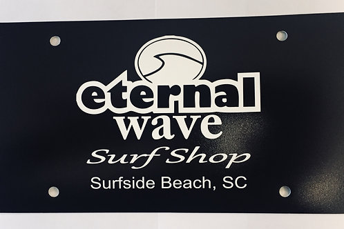 Eternal Wave License Plates
