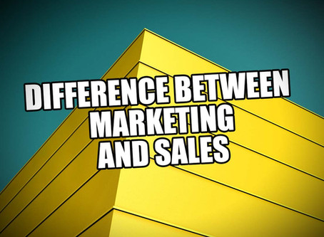 The Difference Between Marketing and Sales