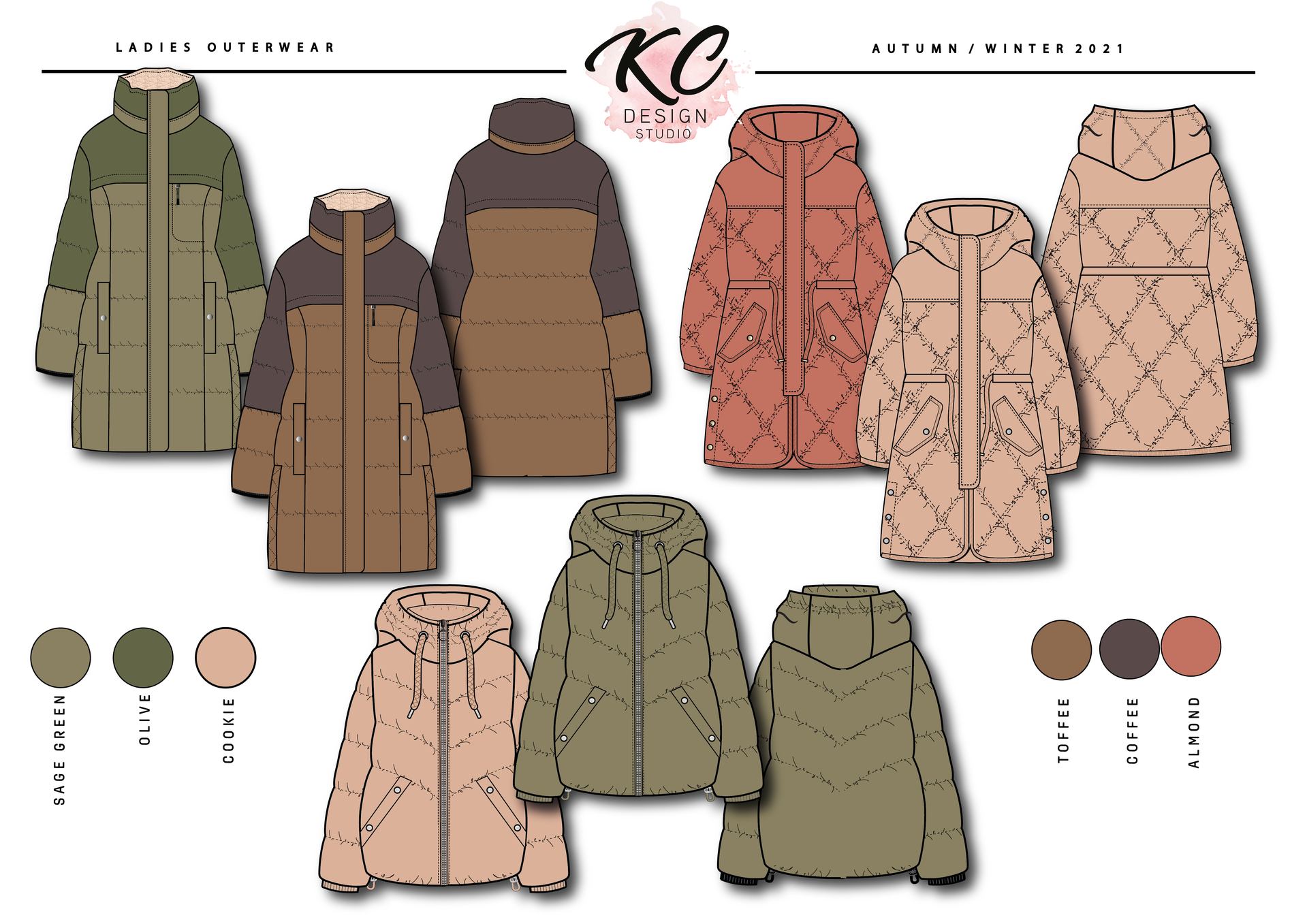 LADIES A:W 21 PADDED OUTERWEAR