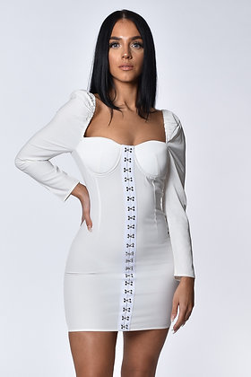 Sophina White Mini Dress