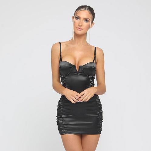Lexi Satin Dress in Black