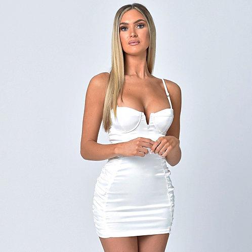 Lexi Satin Dress in White