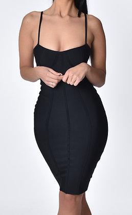 Brielle Midi Dress Black