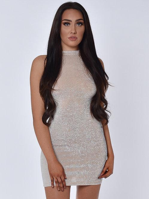 Ivy Champagne Shimmer Mini Dress
