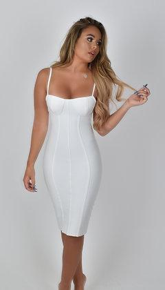 Brielle Midi Dress White