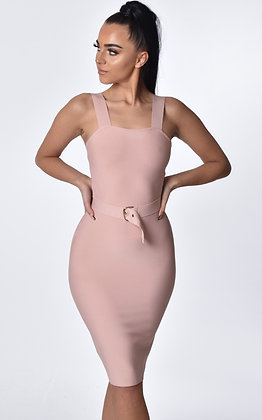 Camilla Nude Belted Dress