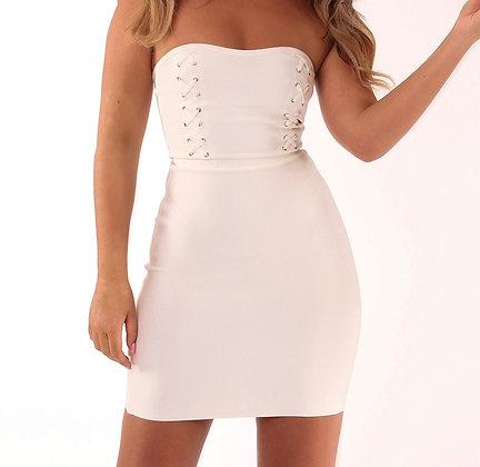 Liana Strapless Dress White