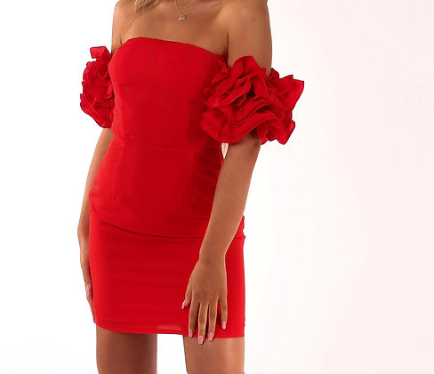 Cici Ruffle Dress