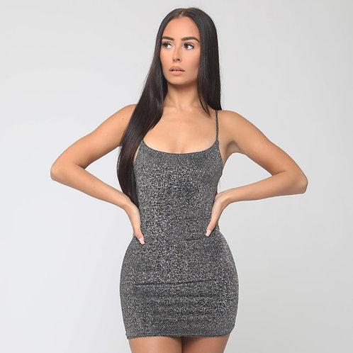 Kaia Shimmer Dress in Grey