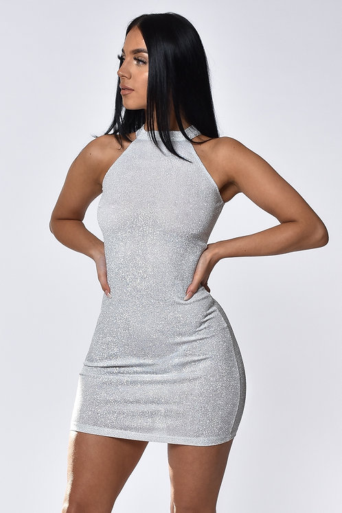 Ivy White Shimmer Mini Dress