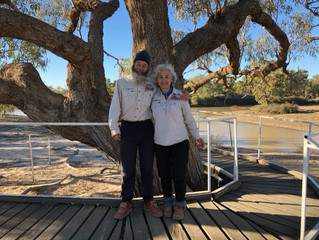 Week 9 Day 57 - at the Dig Tree - 1600km (Thanks Theo for updating our post when we had no mobile co