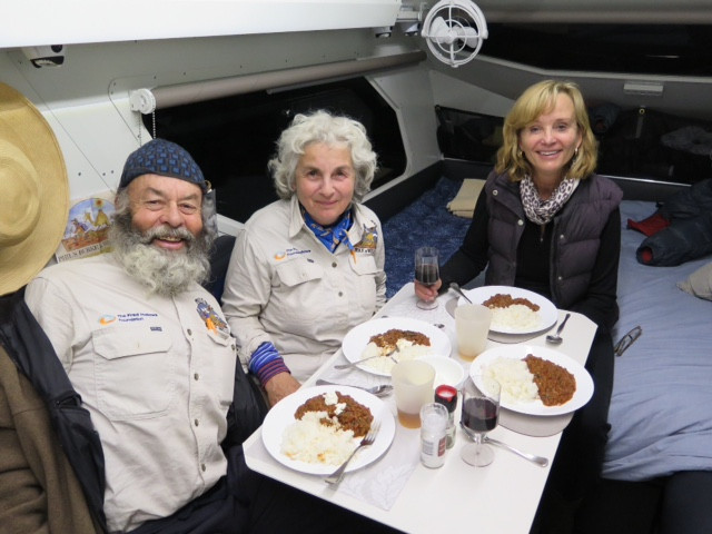 Phil and Susan sharing a meal with Jack and Di