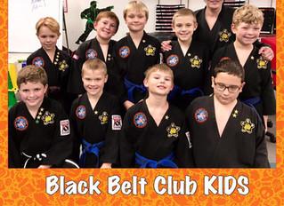 Black Belt Club Kids 2018