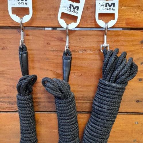 Longe en corde noire