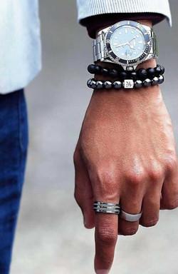 Watch + bracelet + ring combo