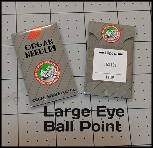 Organ Needles Large Eye Ball Point (10 Pack)
