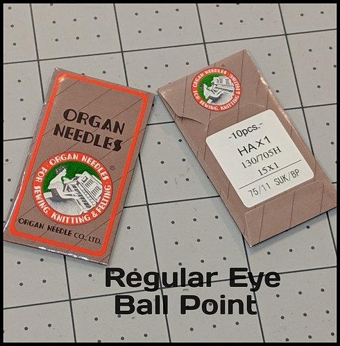 Organ Needles Regular Eye Ball Point (10 Pack)