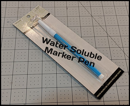 Water Soluble (Disappearing) Marker Pen
