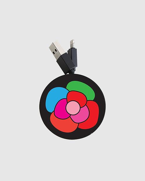 black flower reel