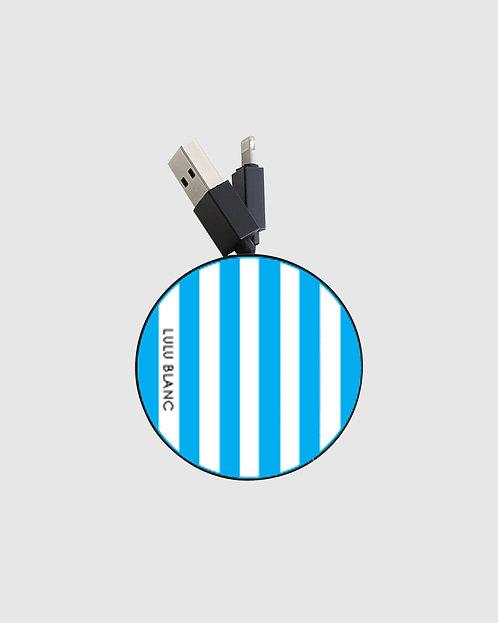 Blue striped reel